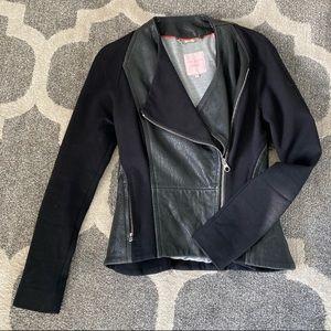 Ted Baker Mixed Media Leather Jacket, size 2
